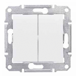 2-circuit Switch IP44 10 AX - 250 V AC, White