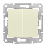 2-circuit Switch IP44 10 AX - 250 V AC, Beige