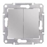 2-circuit Switch IP44 10 AX - 250 V AC, Aluminium