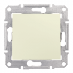 2-way Switch IP44 10 AX - 250 V AC, Beige