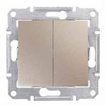 Double 2-way Switch 10 AX - 250 V AC, Titanium