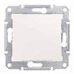 1-way Push-button 10 A - 250 V AC, Cream