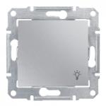1-way Push-button IP44 10 A - 250 V AC with light symbol, Aluminium