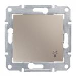 1-way Push-button IP44 10 A - 250 V AC with light symbol, Titanium