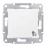 1-way Push-button 10 A - 250 V AC with trash bin symbol, White