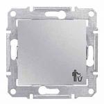 1-way Push-button 10 A - 250 V AC with trash bin symbol, Aluminium