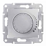 Two-way rotary push-button dimmer RL, 230 V, 60-500 VA, Aluminium