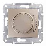 Two-way rotary push-button dimmer RL, 230 V, 60-500 VA, Titanium