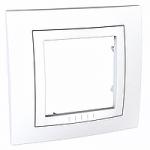 Cover Frame Unica Basic, White, 1 gang