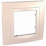 Cover Frame Unica Basic, Cream, 1 gang