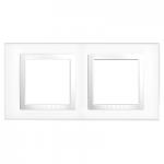 Cover Frame Unica Basic, White, 2 gangs