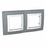 Cover Frame Unica Basic, Technical grey, 2 gangs