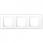Cover Frame Unica Basic, White, 3 gangs