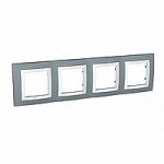 Cover Frame Unica Basic, Technical grey, 4 gangs