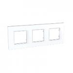 Cover Frame Unica Quadro, White, 3 gangs