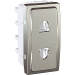 Euroamerican Socket-outlet, shuttered, 10/16 A, 2P, Aluminium