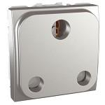British Socket-outlet 16 A, 2P+E, shuttered, Aluminium
