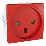 Special Socket-outlet, 16 A, 2P+E, shuttered, Red