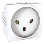 Special Socket-outlet, 16 A, 2P+E, shuttered, White
