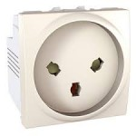 Special Socket-outlet, 16 A, 2P+E, shuttered, Ivory