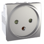 Special Socket-outlet, 16 A, 2P+E, shuttered, Aluminium