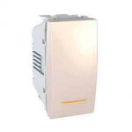Two-way Switch, 1 module 10 AX, with amber indicator lamp, Ivory