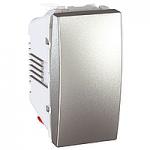 Push-button 10 A – 250 V, 1 module, Aluminium
