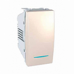 One-way Switch, 16 AX – 250 V, 1 module, with locator lamp, Ivory
