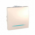 One-way Switch 10 AX, 2 modules, with locator lamp, Ivory