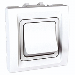 High rating one-way Switch, 32 A (25 AX), 2 modules, White