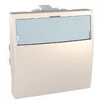 Push-button 10 A – 12 V, 2 modules, with illuminated label holder, Ivory