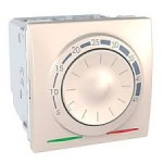 Floor Thermostat 10 A, 2 modules, Ivory