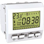 8 A resistive/ 5 A inductive weekly programmable thermostat, 2 modules, White
