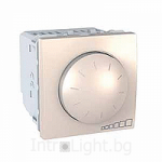 Rotary electronic dimmer Switch, 400 VA, 1- 10 V for fluorescent tubes, 2 modules, Ivory