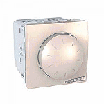 Rotary electronic dimmer one/two way Switch, 40-400 W/VA, 2 modules, Ivory