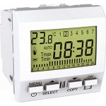 Weekly programmable timer, 2 modules, White