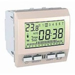 Weekly programmable timer, 2 modules, Ivory