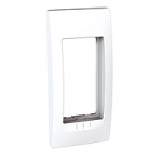 Cover & Fixing Frame Unica Top, White, 1 gang