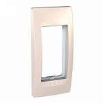 Cover & Fixing Frame Unica Top, Ivory, 1 gang