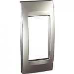 Cover & Fixing Frame Unica Top, Aluminium, 1 gang