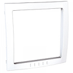 Decorative Frame Unica Colors, White, 1 gang
