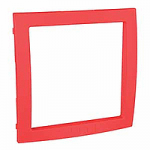 Decorative Frame Unica Colors, Red, 1 gang