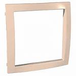 Decorative Frame Unica Colors, Beige, 1 gang