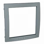 Decorative Frame Unica Colors, Technical grey, 1 gang