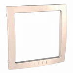 Decorative Frame Unica Colors, Cream, 1 gang