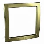 Decorative Frame Unica Colors, Golden, 1 gang