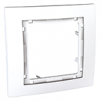 Cover Frame Unica Colors, White, 1 gang