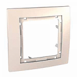 Cover Frame Unica Colors, Ivory, 1 gang