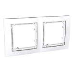 Cover Frame Unica Colors, White, 2 gangs