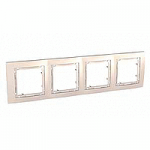 Cover Frame Unica Colors, Ivory, 4 gangs